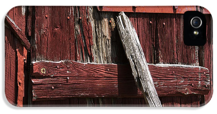 Red Barn Abstract IPhone 5 Case featuring the photograph Red Barn Abstract by Rebecca Sherman
