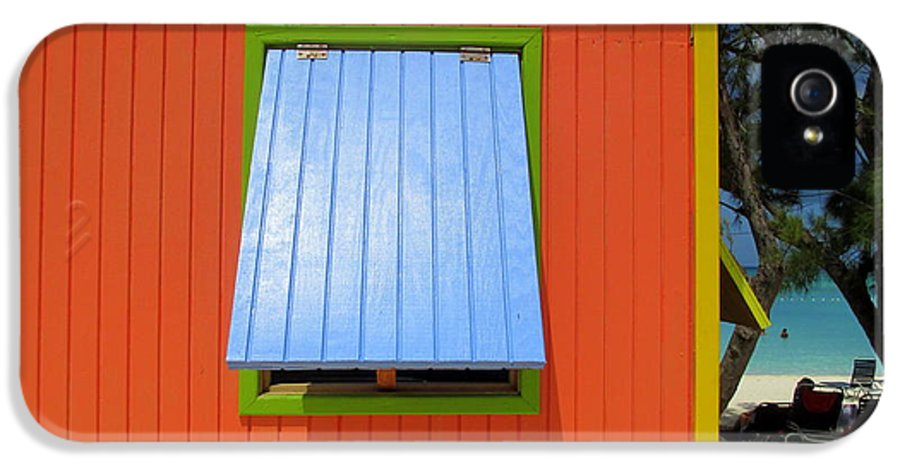 Caribbean Corner IPhone 5 Case featuring the photograph Red Cabin by Randall Weidner