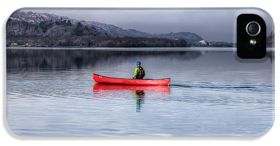 Autumn IPhone 5 Case featuring the photograph Red Canoe by Adrian Evans