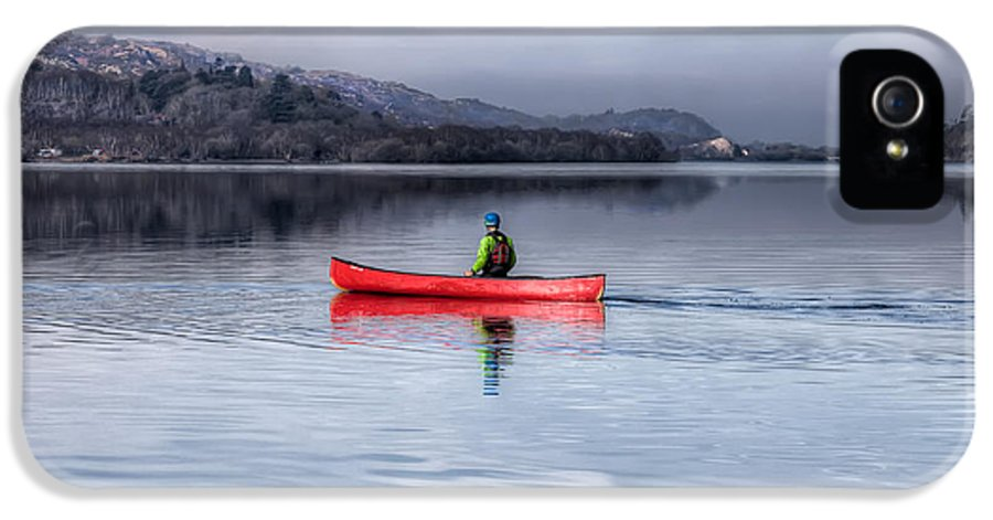 Autumn IPhone 5 / 5s Case featuring the photograph Red Canoe by Adrian Evans