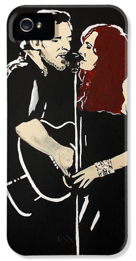 Bruce Springsteen IPhone 5 Case featuring the painting Red Headed Woman by Carmencita Balagtas