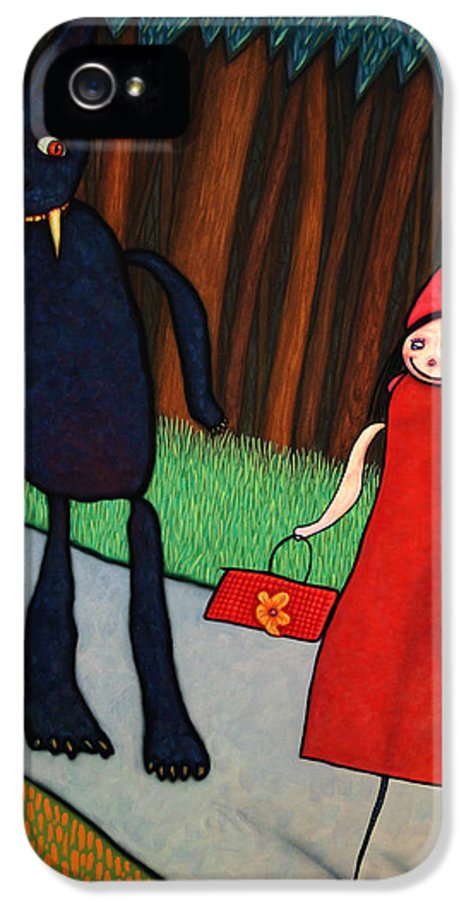 Little Red Ridinghood IPhone 5 Case featuring the painting Red Ridinghood by James W Johnson