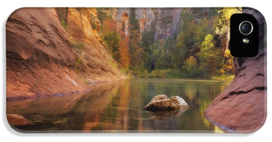 West Fork Oak Creek Canyon IPhone 5 Case featuring the photograph Red Rock Autumn by Peter Coskun