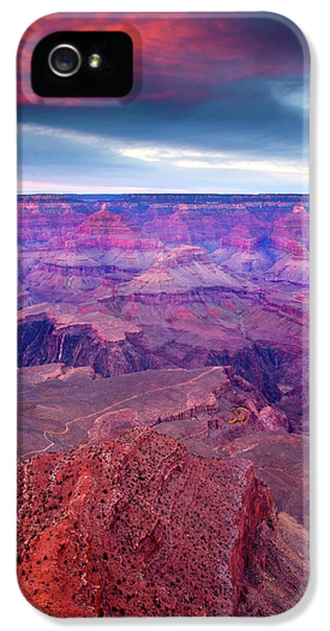 Grand Canyon IPhone 5 Case featuring the photograph Red Rock Dusk by Mike Dawson