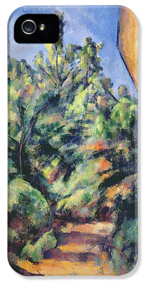 Landscape IPhone 5 Case featuring the painting Red Rock by Paul Cezanne