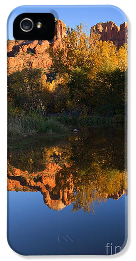 Sedona IPhone 5 / 5s Case featuring the photograph Red Rock Reflections by Mike Dawson