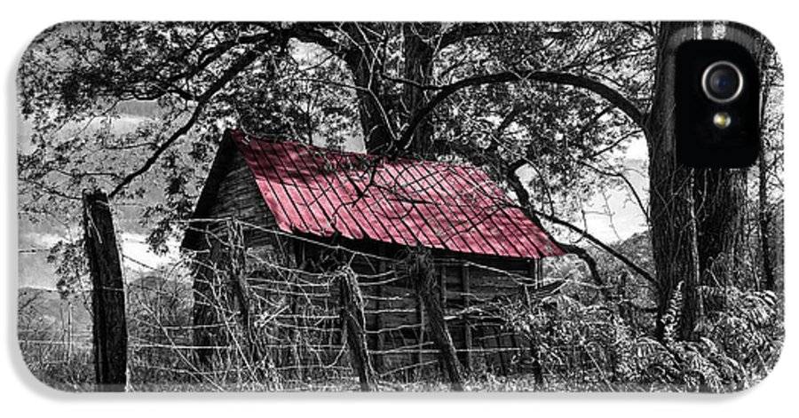 Andrews IPhone 5 Case featuring the photograph Red Roof by Debra and Dave Vanderlaan