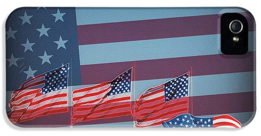 Red White And Blue IPhone 5 Case featuring the photograph Red White And Blue by Kay Novy