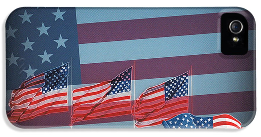 Red White And Blue IPhone 5 / 5s Case featuring the photograph Red White And Blue by Kay Novy