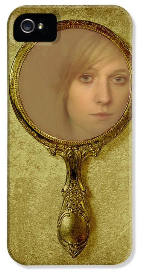 Woman IPhone 5 Case featuring the photograph Reflection by Amanda Elwell