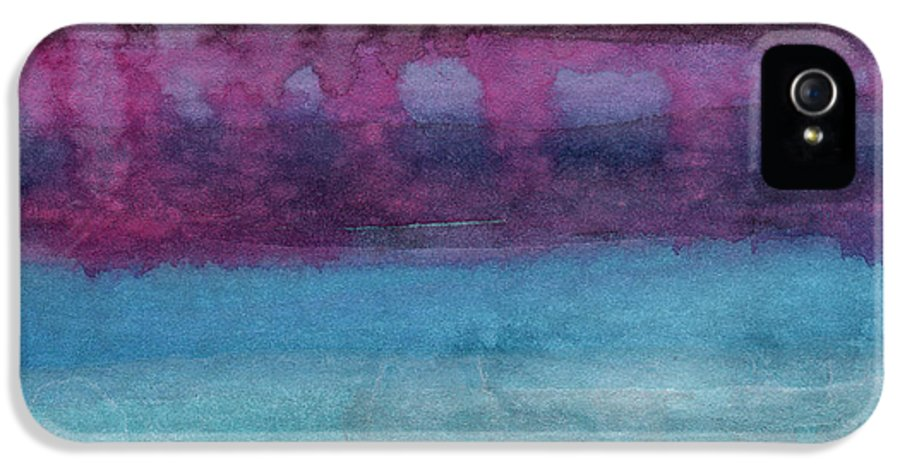 Abstract Landscape Painting IPhone 5 Case featuring the painting Reflection by Linda Woods