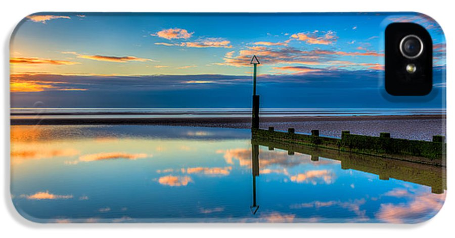Sunset IPhone 5 Case featuring the photograph Reflections by Adrian Evans