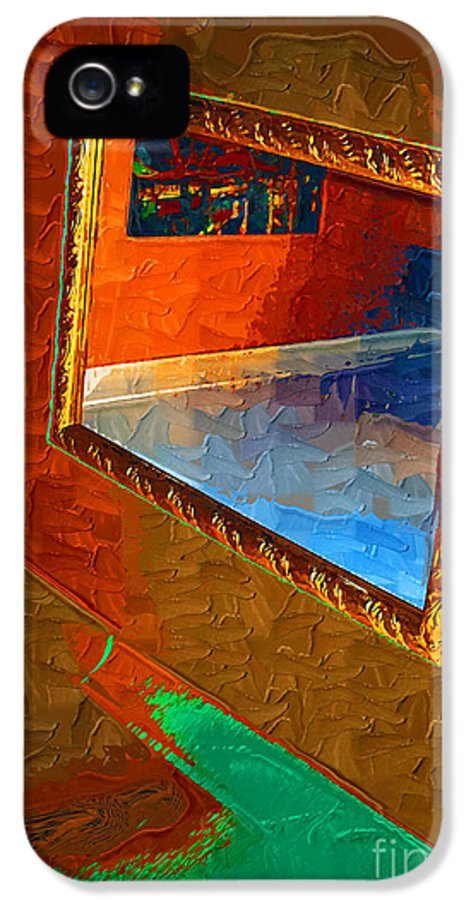 Framed IPhone 5 Case featuring the painting Reflections In The Mirror by Jonathan Steward