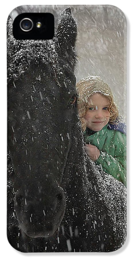 Friesian IPhone 5 Case featuring the photograph Remme And Rory by Fran J Scott