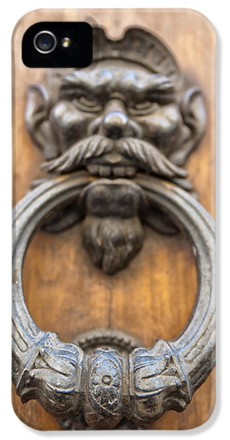 Architecture IPhone 5 Case featuring the photograph Renaissance Door Knocker by Melany Sarafis