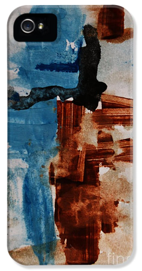 Artistic IPhone 5 / 5s Case featuring the painting Restart by Andrea Anderegg
