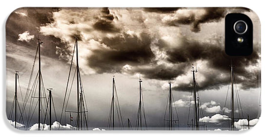 Art IPhone 5 Case featuring the photograph Resting Sailboats by Stelios Kleanthous