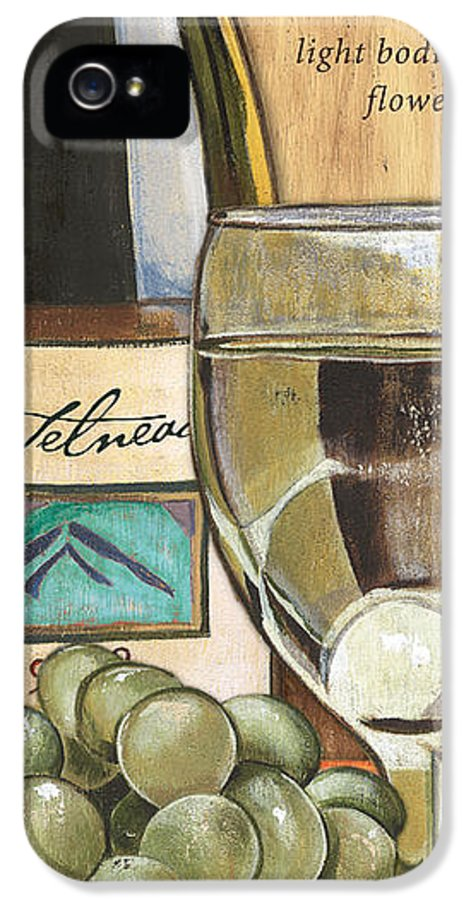 Riesling IPhone 5 Case featuring the painting Riesling by Debbie DeWitt