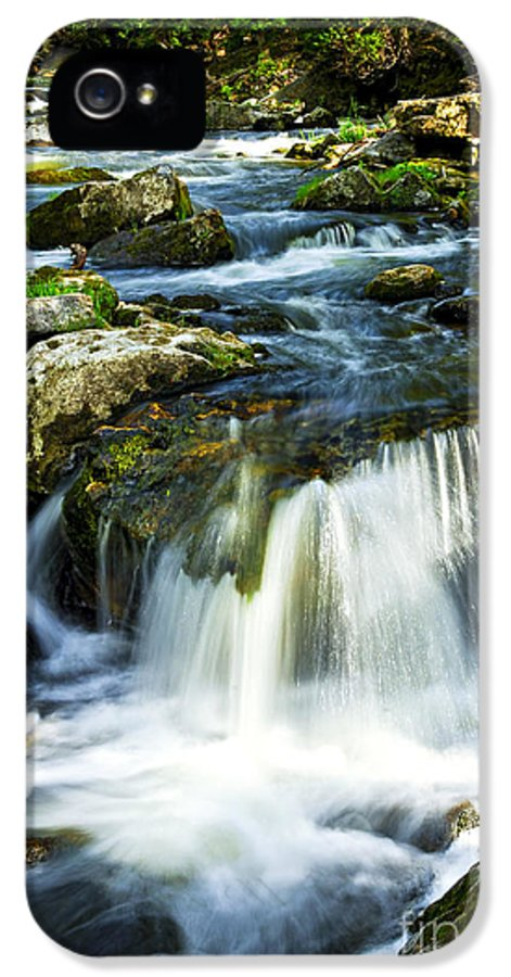 River IPhone 5 Case featuring the photograph River Flowing Through Woods by Elena Elisseeva