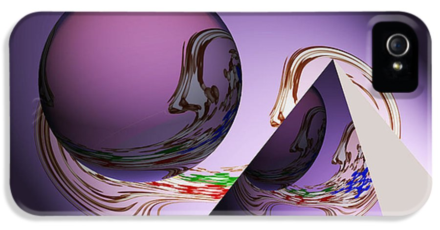 Abstract Geometrical Art IPhone 5 Case featuring the painting River Of Life by Georgeta Blanaru