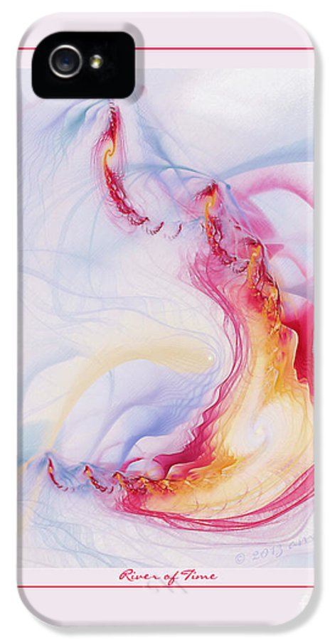 Fractal IPhone 5 Case featuring the digital art River Of Time by Gayle Odsather