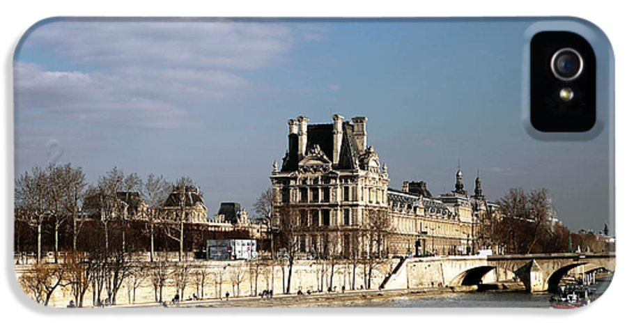River View In Paris IPhone 5 Case featuring the photograph River View In Paris by John Rizzuto