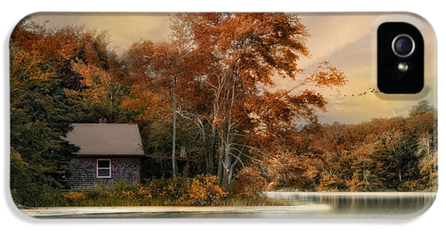 Landscape IPhone 5 Case featuring the photograph River View by Robin-Lee Vieira