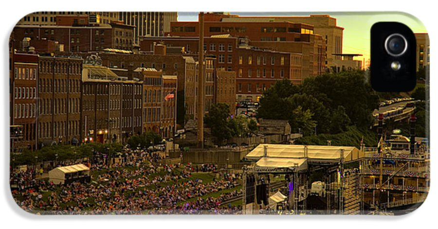 River IPhone 5 Case featuring the photograph Riverfront Concert by Diana Powell