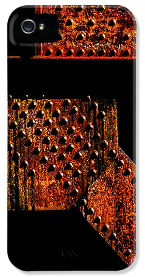 Rivets IPhone 5 Case featuring the photograph Rivets Number Two by Bob Orsillo