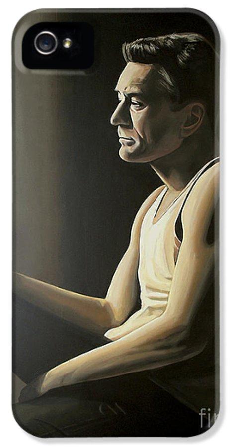 Robert De Niro IPhone 5 Case featuring the painting Robert De Niro by Paul Meijering
