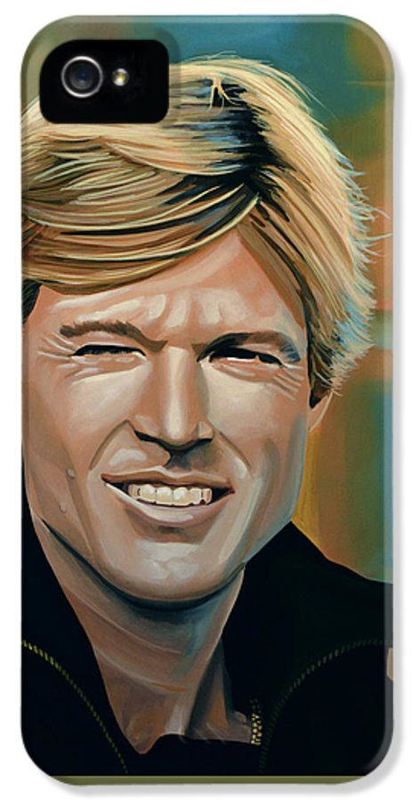 Robert Redford IPhone 5 Case featuring the painting Robert Redford by Paul Meijering