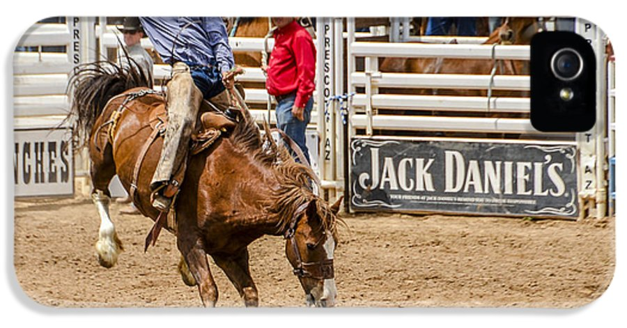 Rodeo IPhone 5 Case featuring the photograph Rodeo Ride by Jon Berghoff
