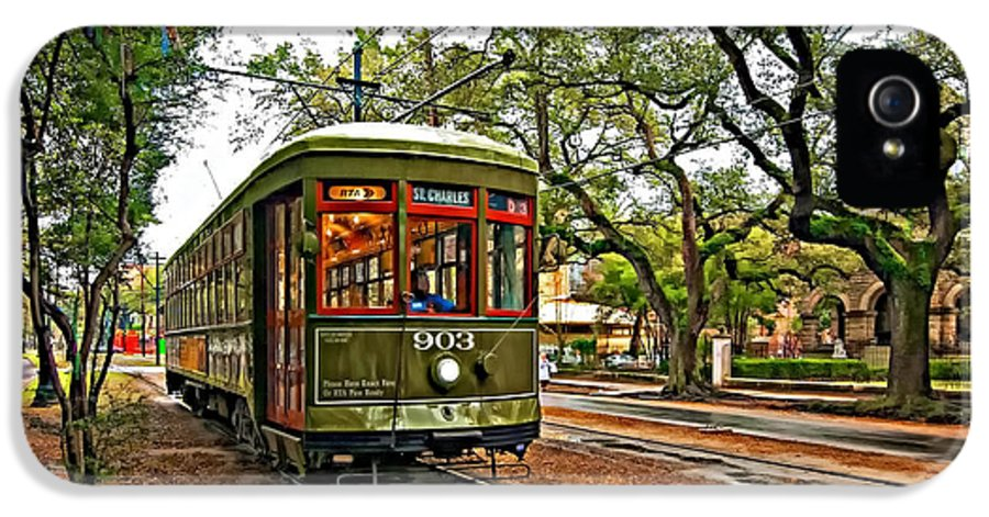 Garden District IPhone 5 Case featuring the photograph Rollin' Thru New Orleans by Steve Harrington