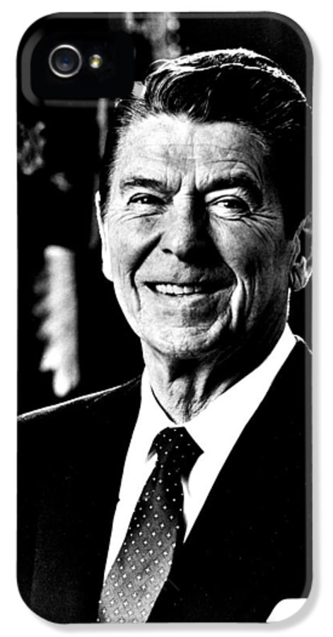 Ronald IPhone 5 Case featuring the photograph Ronald Reagan by Benjamin Yeager