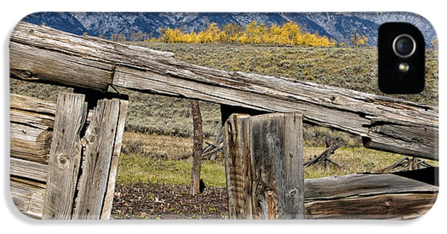 Log Cabin IPhone 5 Case featuring the photograph Room With A View by Kathleen Bishop