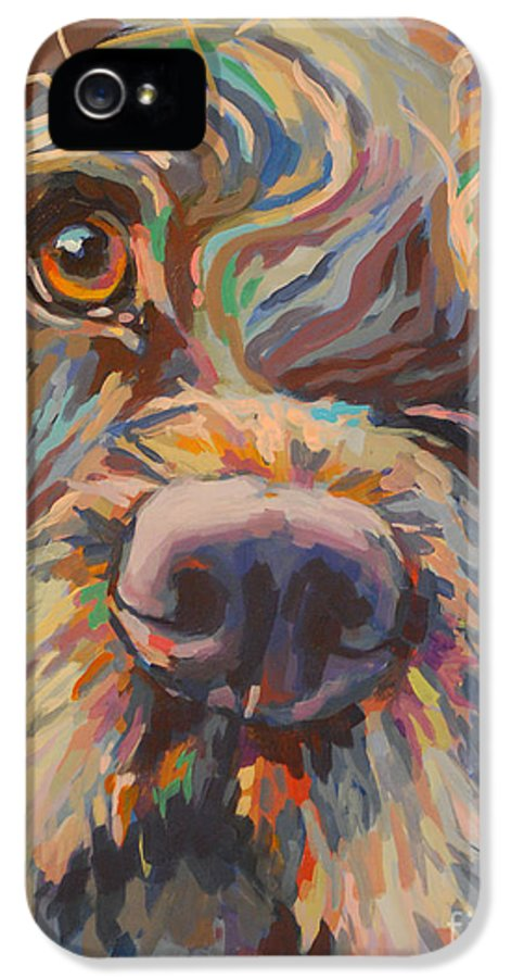 Labradoodle IPhone 5 Case featuring the painting Rory by Kimberly Santini