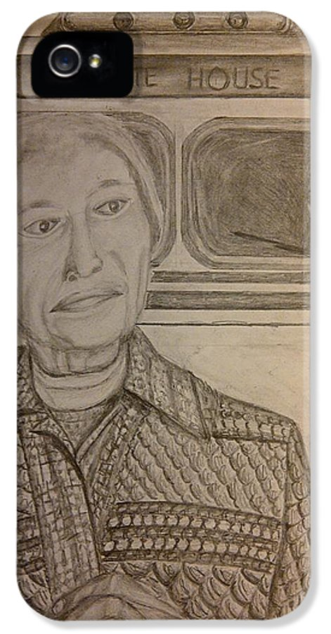 Rosa Parks IPhone 5 Case featuring the drawing Rosa Parks Imagined Progress by Irving Starr