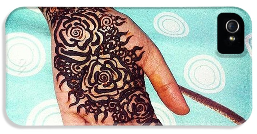 Rose Henna Tattoo #henna #mehndi #dubai IPhone 5 Case for Sale by ...