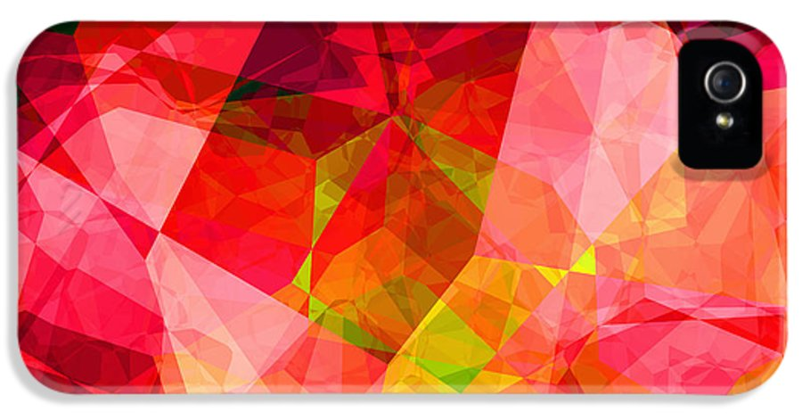 Abstract IPhone 5 / 5s Case featuring the digital art Roses by Wendy J St Christopher
