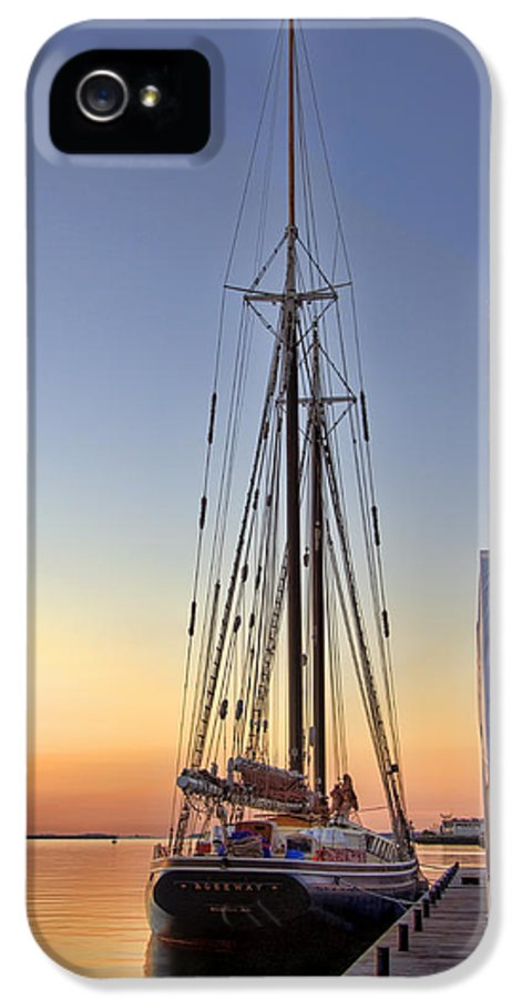 Sailing IPhone 5 Case featuring the photograph Roseway by Joann Vitali