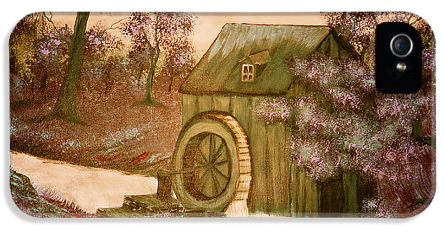 Ross's Watermill IPhone 5 Case featuring the painting Ross's Watermill by Barbara Griffin