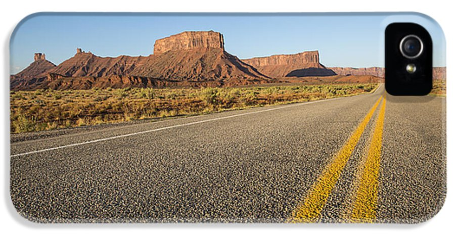 3scape Photos IPhone 5 Case featuring the photograph Route 128 Near Castle Valley by Adam Romanowicz