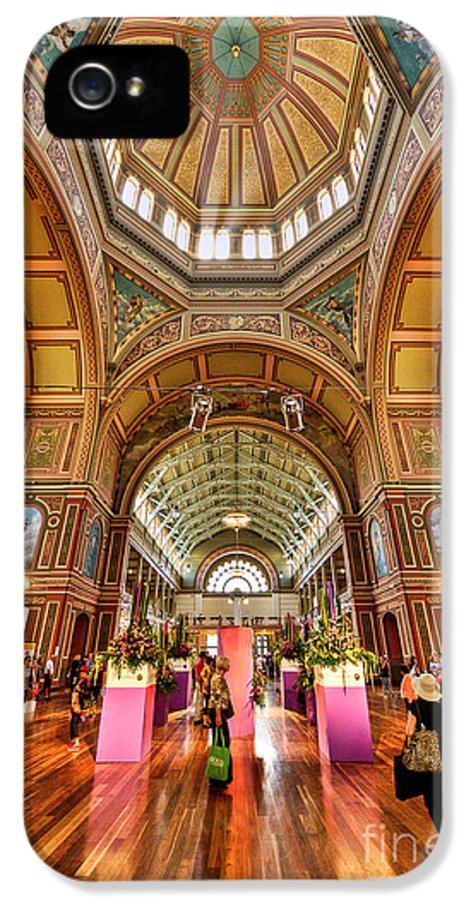 Royal IPhone 5 Case featuring the photograph Royal Exhibition Building II by Ray Warren