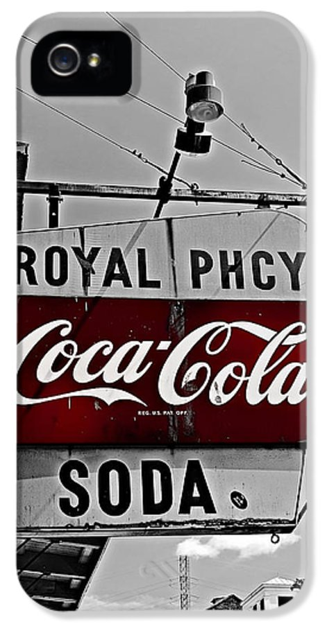 French Quarter IPhone 5 / 5s Case featuring the photograph Royal Pharmacy Soda by Andy Crawford