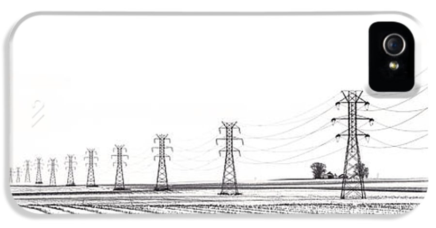 Power IPhone 5 Case featuring the photograph Rural Power by Steve Gadomski