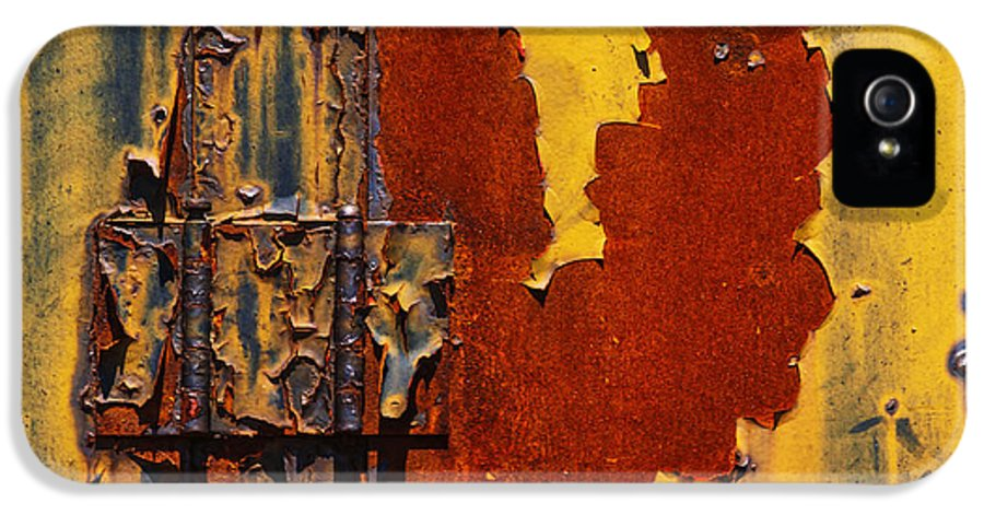 Landscape IPhone 5 Case featuring the painting Rust Abstract by Jack Zulli