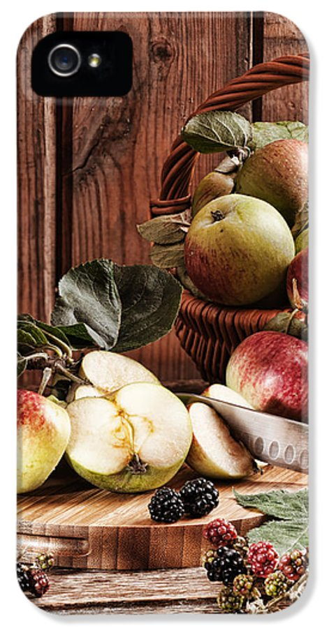Rustic IPhone 5 Case featuring the photograph Rustic Apples by Amanda Elwell