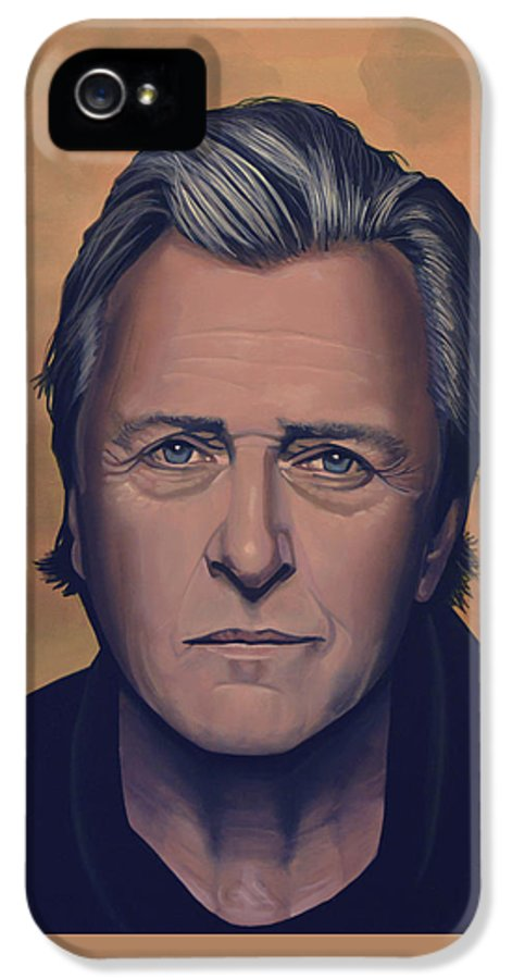 Rutger Hauer IPhone 5 Case featuring the painting Rutger Hauer by Paul Meijering