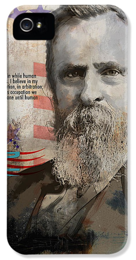 Rutherford B. Hayes IPhone 5 Case featuring the painting Rutherford B. Hayes by Corporate Art Task Force