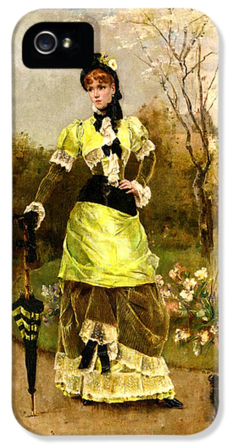 Alfred Stevens IPhone 5 Case featuring the digital art Sa Majeste La Parisienne by Alfred Stevens